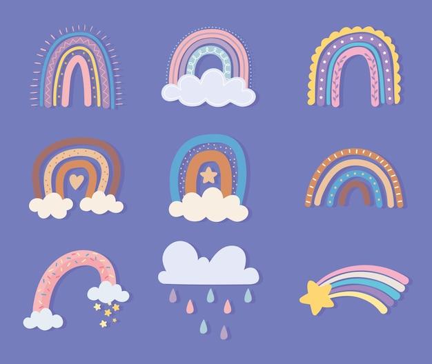 虹の星と雲