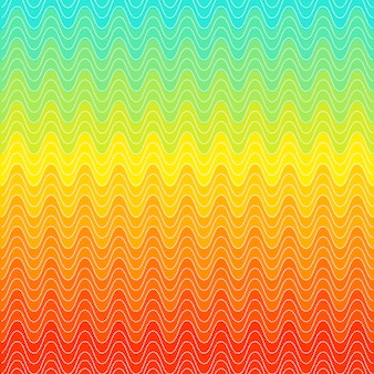 Rainbow swirls dot pattern. wave background. trendy bright design. red, yellow and blue color. vector illustration.
