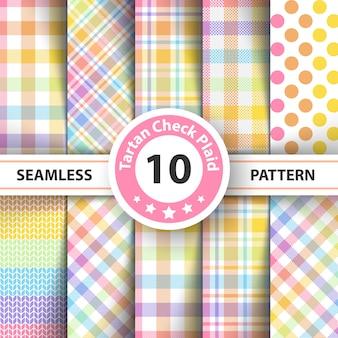 Rainbow tartan pattern