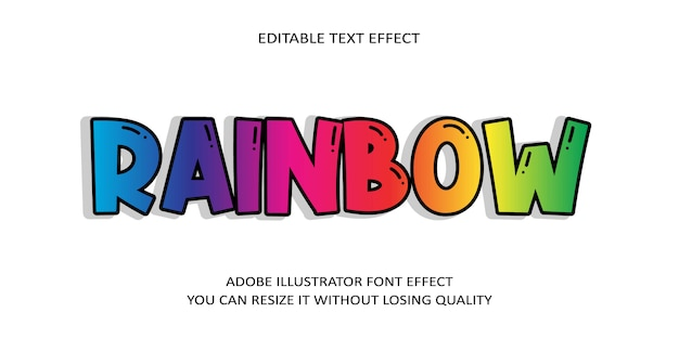 Rainbow text font effect