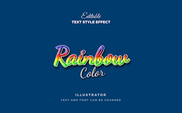 Rainbow text style effect