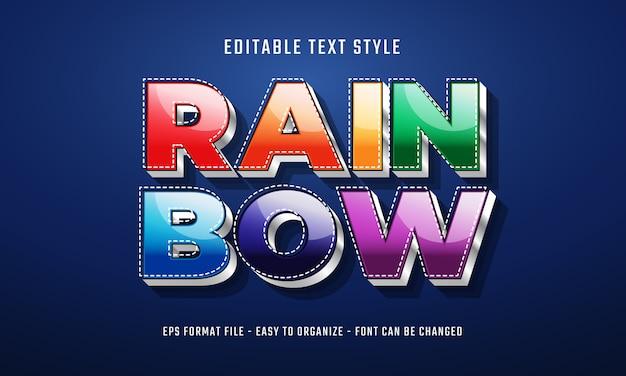 Rainbow text style