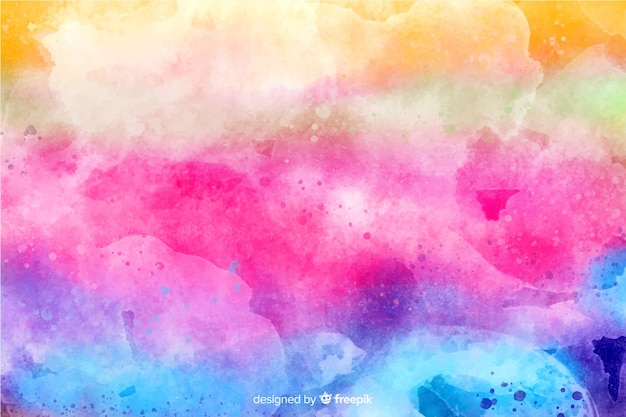 Rainbow in tie-dye style background