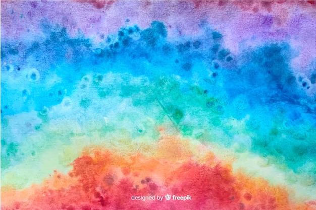 Rainbow in tie dye style background