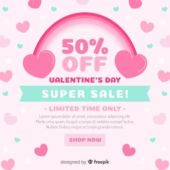 Rainbow valentine's day sales background