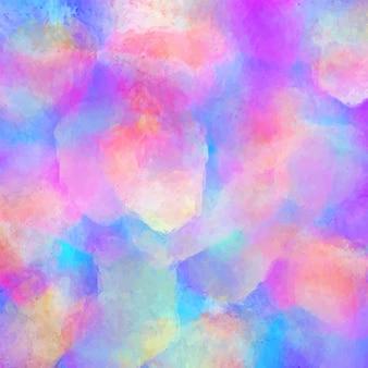 白い背景の上の虹の水彩画。カラフル。
