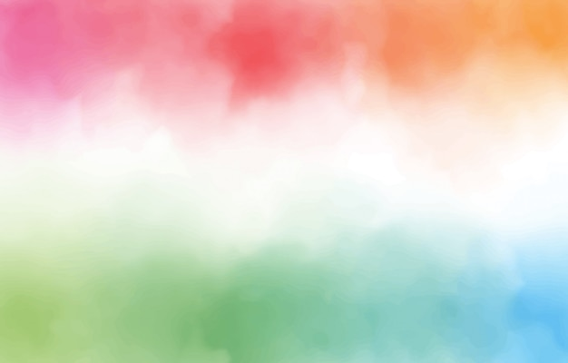 Rainbow watercolor splash background with copy space digital illustration