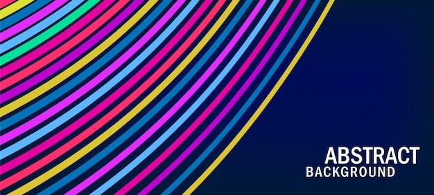 Rainbow wave line minimal background