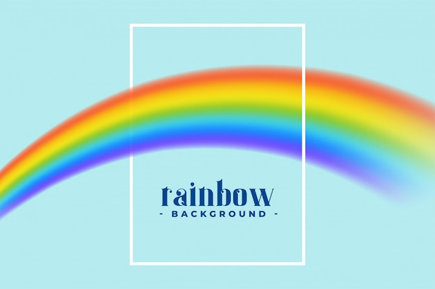 Rainbow with text space and frame