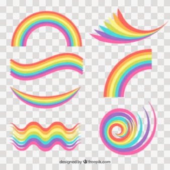 Rainbows collection in different shapes