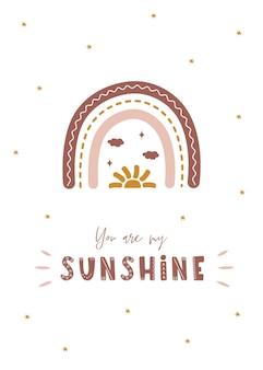 Радуги в стиле бохо с солнцем