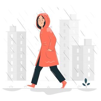 Illustrazione di concetto di pioggia