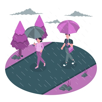 Raining concept illustration