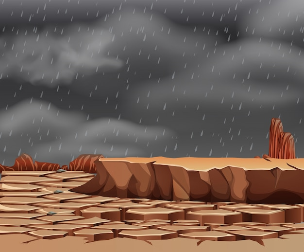 Raining at the droughty land