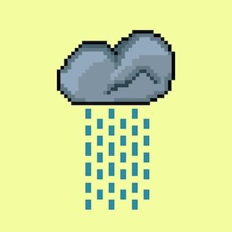 Дождливое облако в стиле пиксель-арт
