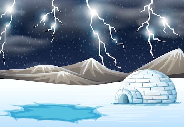 冬の雨の夜