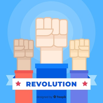 Поднятый кулак для революции