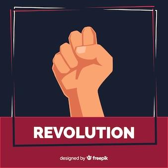 革命のための拳を上げた
