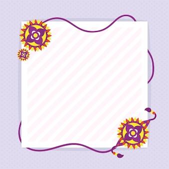 Rakhi bands template card design