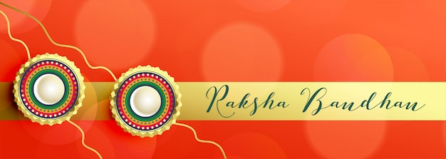 Rakhi decoration banner for raksha bandhan festival