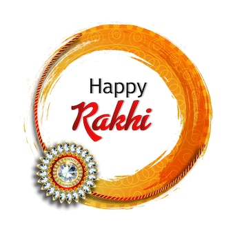 Rakhi for happy raksha bandhan with background