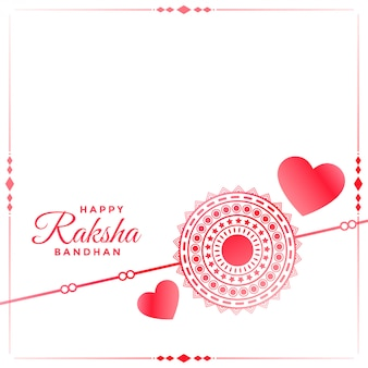 Rakhi and hearts background for rakhsha bandhan festival