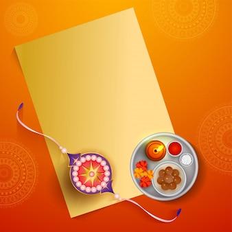 Rakhi with worship plate