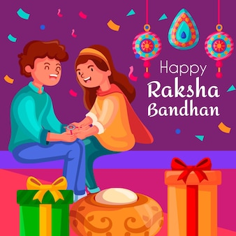 Raksha bandhan background concept