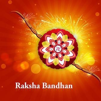 Raksha bandhan background with bokeh effect