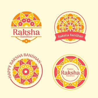 Collezione di badge raksha bandhan