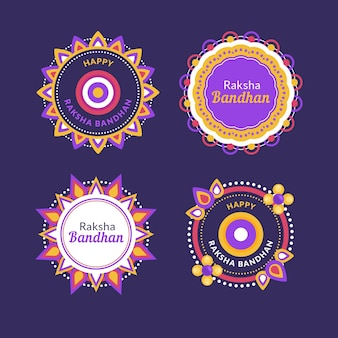 Raksha bandhan badges template