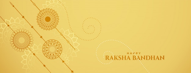 Raksha bandhan celebration banner with rakshi