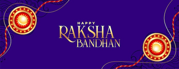 Design decorativo per banner festival raksha bandhan