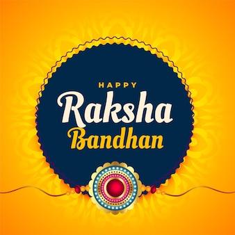 Raksha bandhan festival background with rakhi design