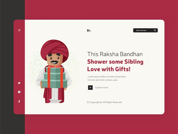 Raksha bandhan festival offer landing page design