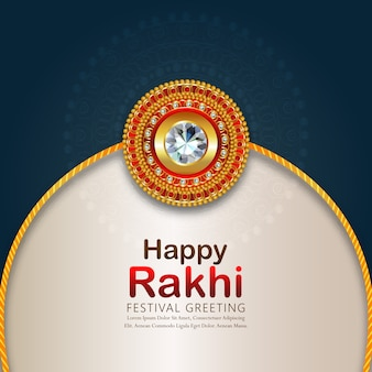Raksha bandhan greeting card