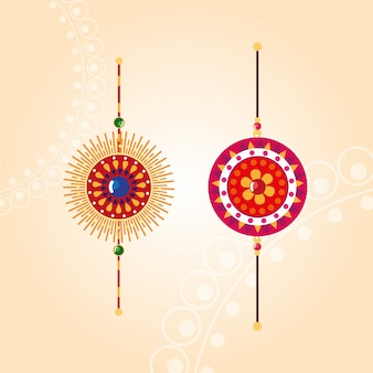 ラクシャバンダン色とりどりのマンダラの花リストバンド