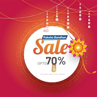Raksha bandhan poster 70% discount offer.