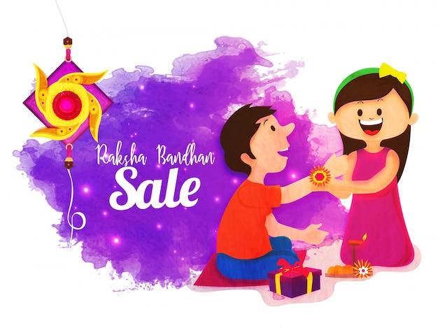 Raksha bandhan sale poster, banner or flyer.