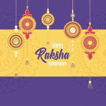 Raksha bandhan, traditional indian wristband collection