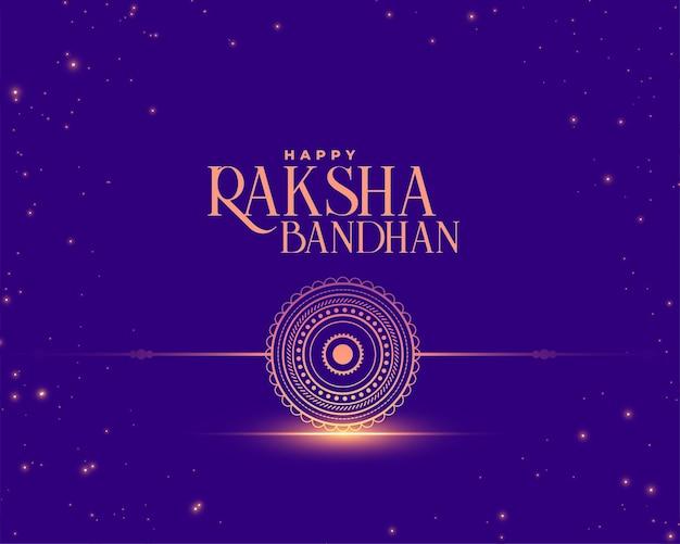 Raksha bandhan desidera carta in stile brillante