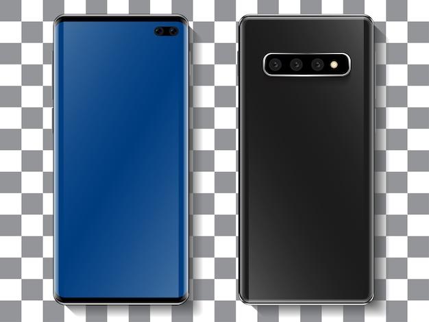 Ralistic smartphone design with full screen display