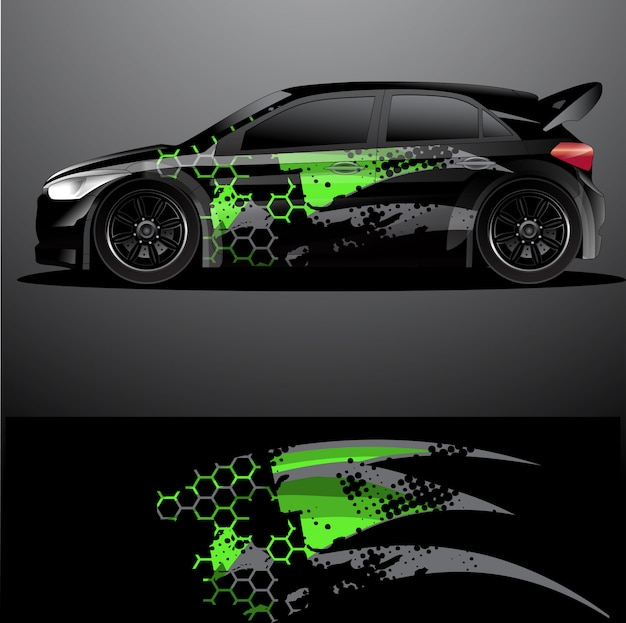 Rally car decal graphic wrap , abstract background