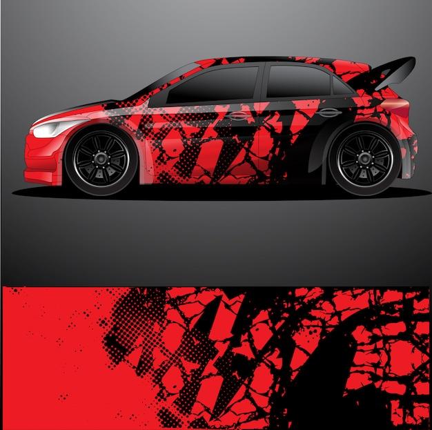 ラリーカーデカールグラフィックラップ、抽象的なデザイン