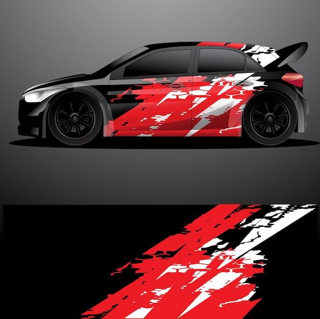 Ралли автомобиль наклейка графическая упаковка вектор абстрактный фон