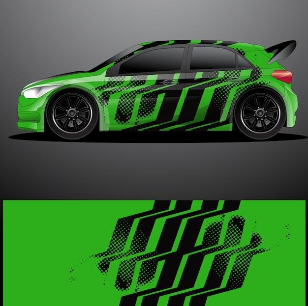 랠리 자동차 데칼 그래픽 랩