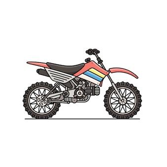 Ралли мотоцикл значок изолированных иллюстрация.