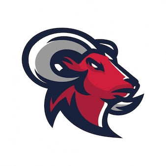 Ram, шаблон логотипа эмблемы козла esport