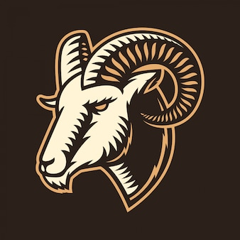 Рам / коза / овцы / ягненок логотип иллюстрация