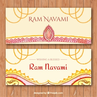 Ram navami banners in abstract design